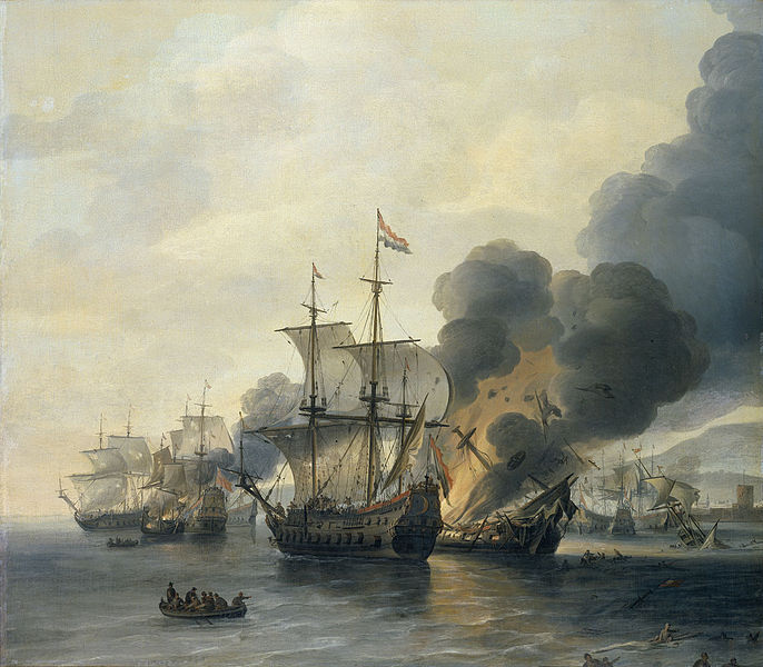 The Battle of Leghorn, 4 March 1653 (Willem van Diest, mid-17th Century)