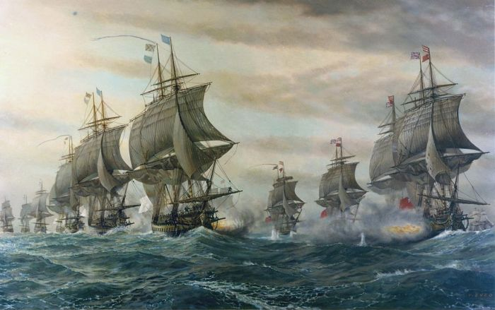 The Battle of Virginia Capes, 1962 by V. Zveg (US Navy employee)
