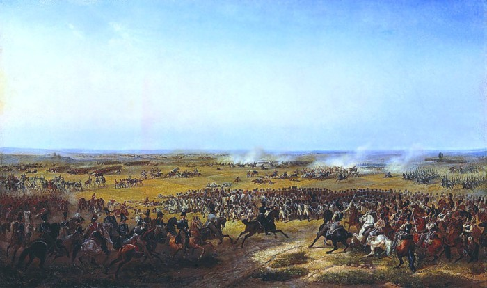 Battle of Fère-Champenoise in 1814. Much of Jomini's writings were intended to explain Napoleon's battlefield successes.