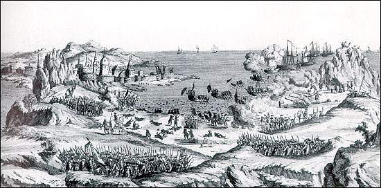 """French attack St. John's Newfoundland 1762"". Licensed under Public Domain via Wikimedia Commons"