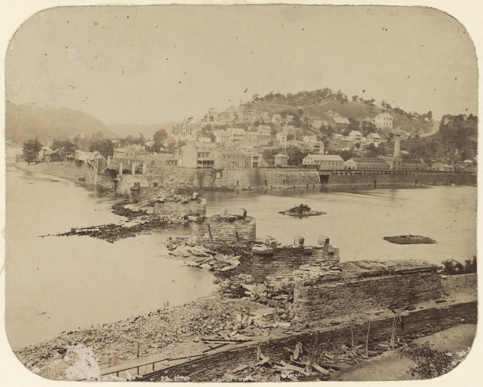 Harper's Ferry, photographed immediately after its evacuation by the rebels. 1861