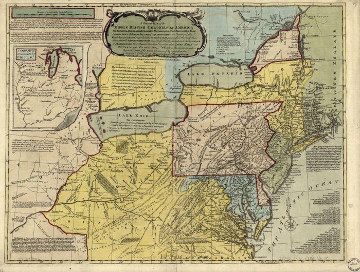 Middle British colonies in USA 1771