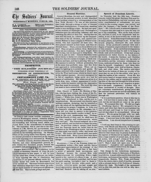 The Soldier's Journal, 22 June 1864