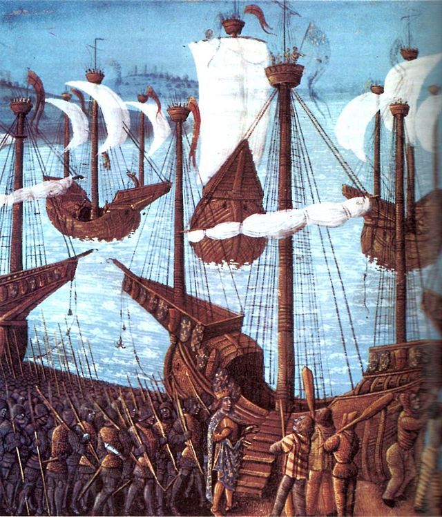 Embarquement of King Philipp II of France for the Third Crusade (1190)