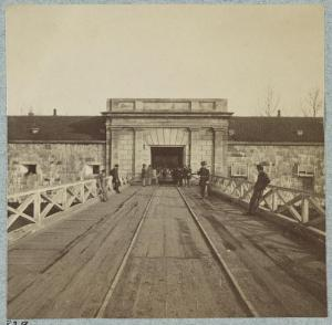 Fort Monroe, located at the tip of the Virginia Peninsula, remained in Union hands throughout the Civil War.