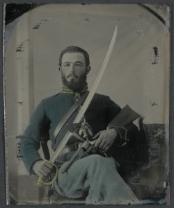 Unidentified Soldier Wearing Union uniform and Cav Sabre